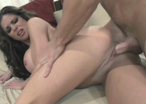 Busty slut Hunter fucks and squirts