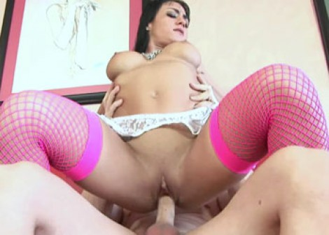 Petite Mahina is riding a big dick