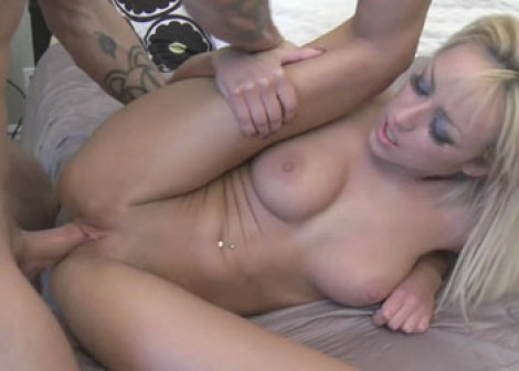 Little blonde Breanne is getting nailed